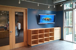 Fusion Woodwork architecural commercial millwork project at the Vancouver Aquarium in Vancouver, BC - View more photos of this modern Commercial millwork project...