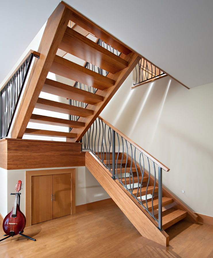 Fusion Woodwork hardwood staircase custom millwork project at this Marine Drive, West Vancouver house
