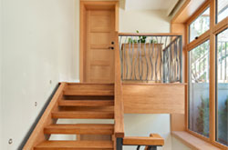 View more pics... Fusion Woodwork hardwood staircase custom millwork project at this Marine Drive, West Vancouver house