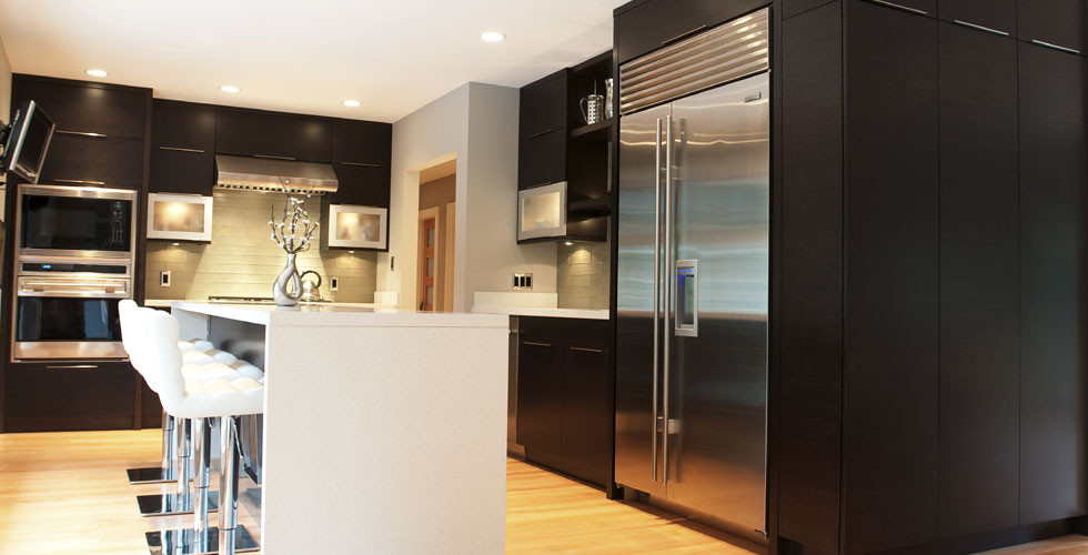 Modern kitchen millwork.