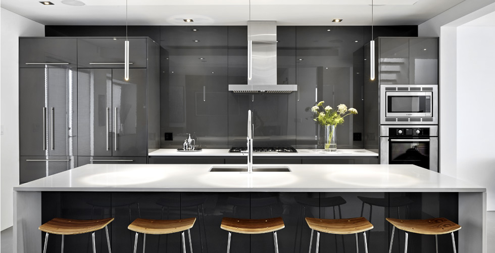 Kitchen millwork and installations  		are one of our specialties. Modern k